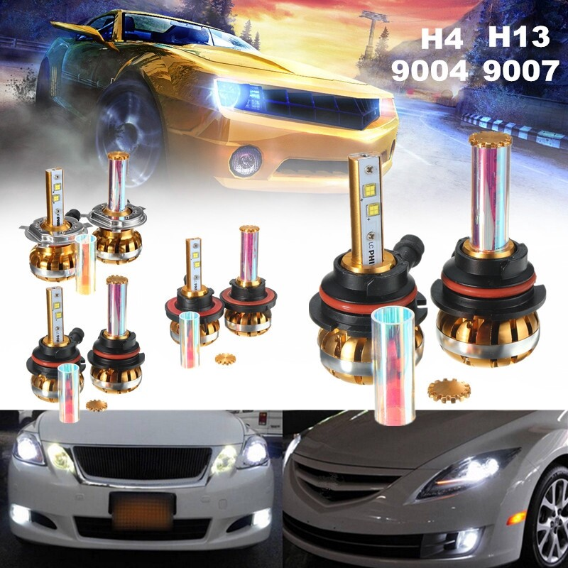 Car Lights - 9004/9007/H4/H13 Bulb 120W Philips Hi/Lo LED Canbus Headlight Kit Lamp - Replacement Parts