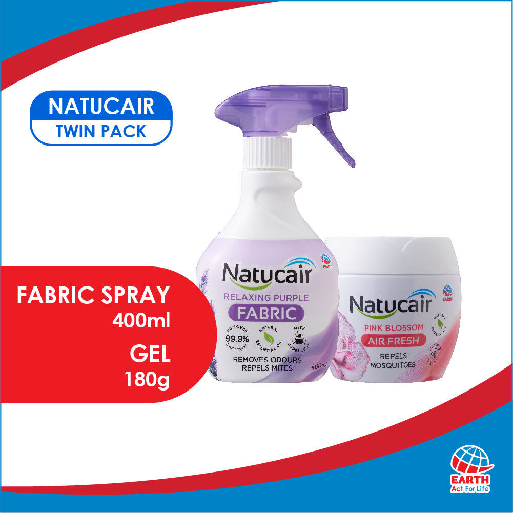 Natucair Twin Pack: Fabric Spray x1 & Air fresh Mosquito Repellent Gel x1EHB000008