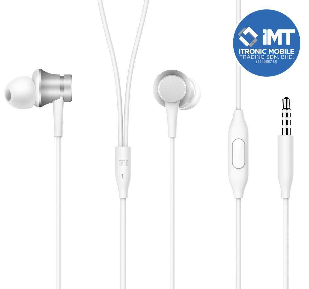 Original Xiaomi Piston Earphone Fresh Edition - Silver/Black