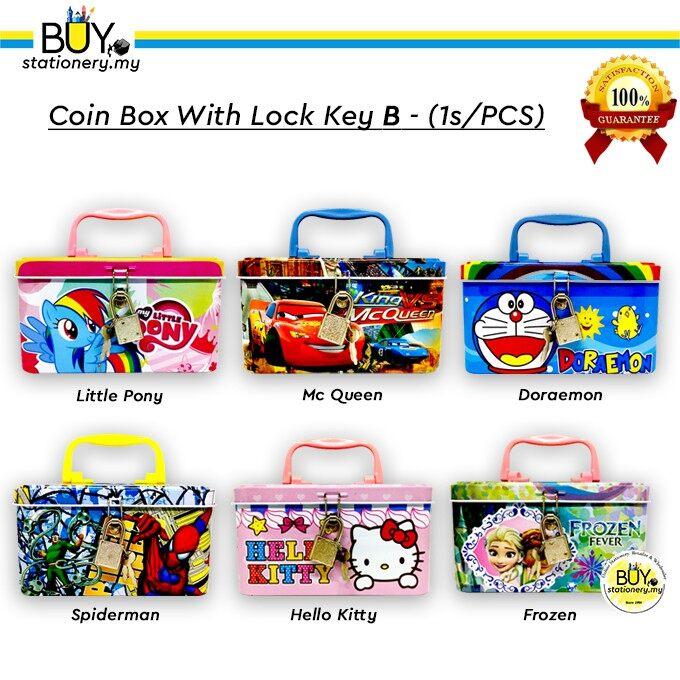 Coin Box With Lock Key B - (1s/PCS)