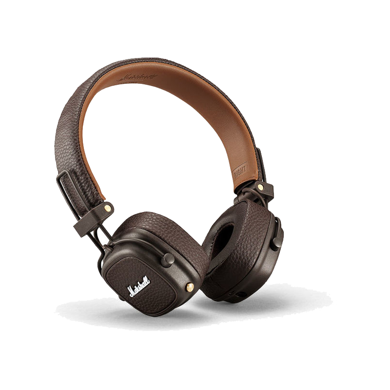 Marshall MAJOR III BLUETOOTH (Black,Brown,White), Bluetooth, 30+ hours of playtime, iconic sound, control knob, phone functionality
