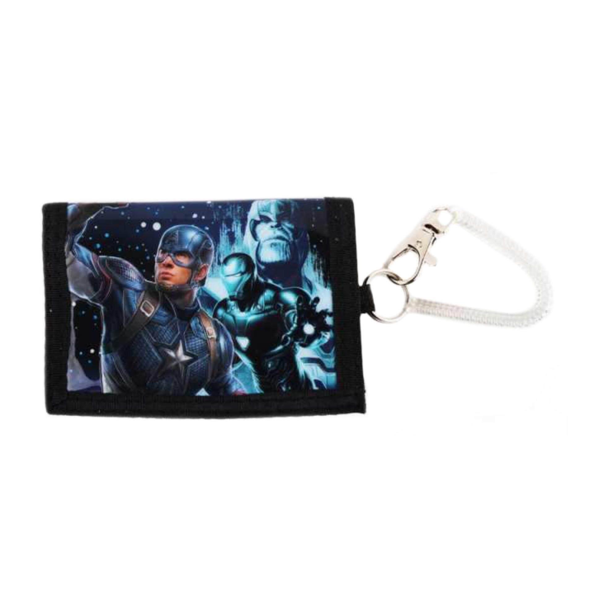 Marvel Avengers Endgame Elastic Coil Cord 3 Folded Wallet - Blue Colour