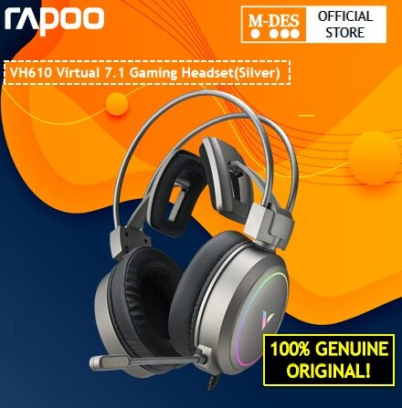 Rapoo VH610 Virtual 7.1 Channels Gaming Headset SILVER / PINK