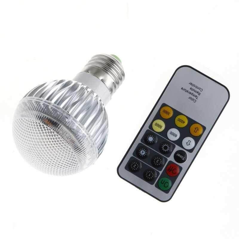 Temperature Adjustable LED 9W E27 Light Bulb