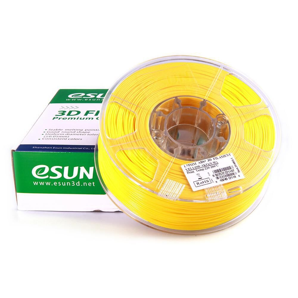 Printers & Projectors - ABS+ 1.75mm ABS 3D Printer Filament 1kg Spool (2.2lbs) Consumables Material Refills - NATURAL / GREEN / YELLOW / RED / WHITE / BLACK
