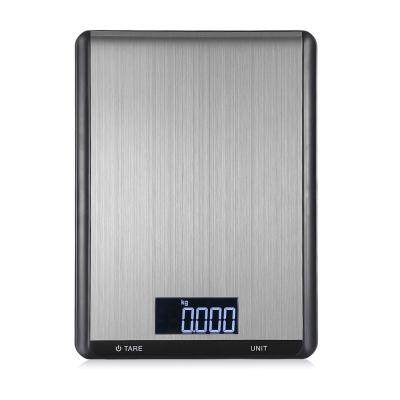 5000g / 1g Digital Multifunctional Electronic Kitchen Scale (SILVER)