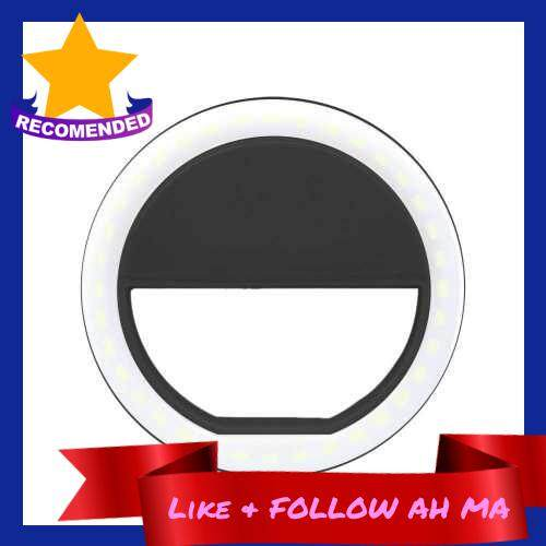 Best Selling Selfie LED Light Ring Flash Fill Clip Camera For I-Phone & Tablet Black (Black)