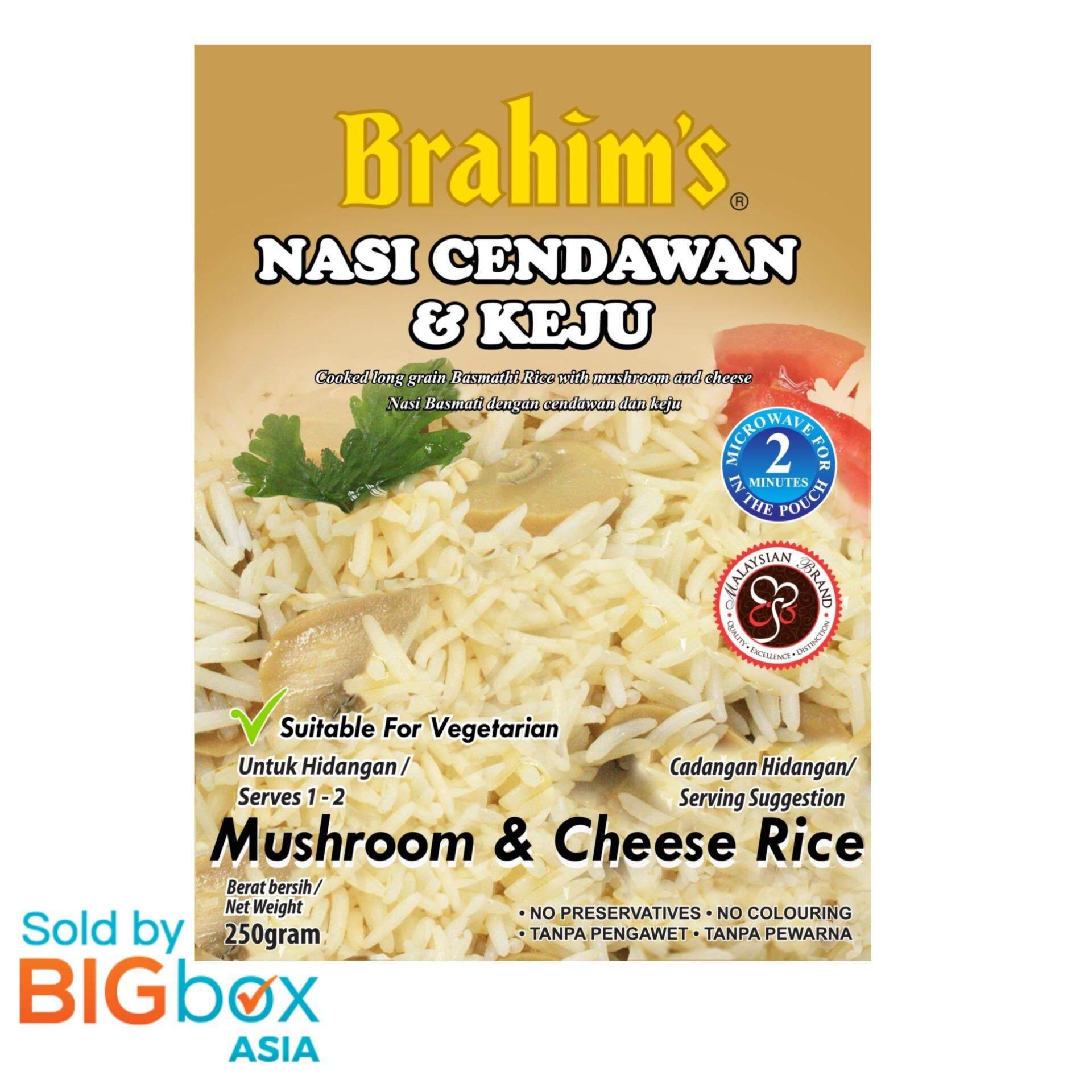 [BIGBox Asia] Brahims Ready To Eat Cheese & Mushroom Rice 250g - Malaysia