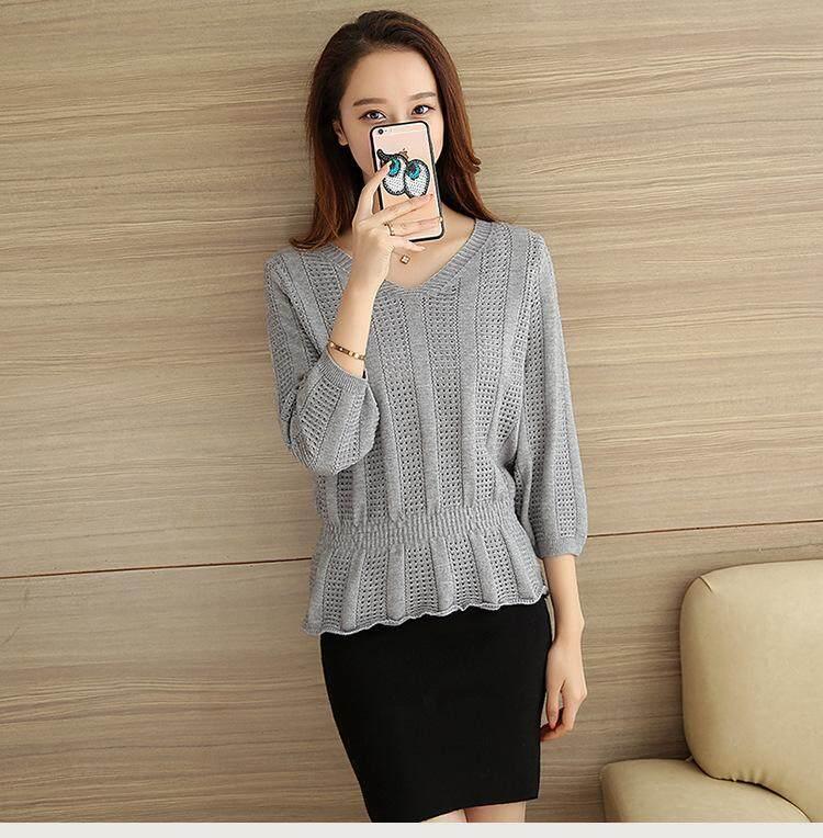 (Pre Order14 Days JYS Fashion Korean Style Women Knit TopCollection525-1856col525-1856--Grey-M