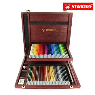 STABILO® CarbOthello Chalk-Pastel Pencil Wooden Box of 60 Assorted Colours