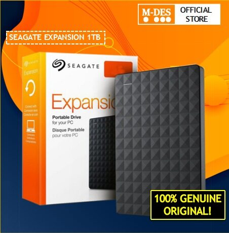 Seagate Expansion 1TB Portable External Hard Disk HDD USB 3.0 Portable Hard Disk Free Soft Pouch