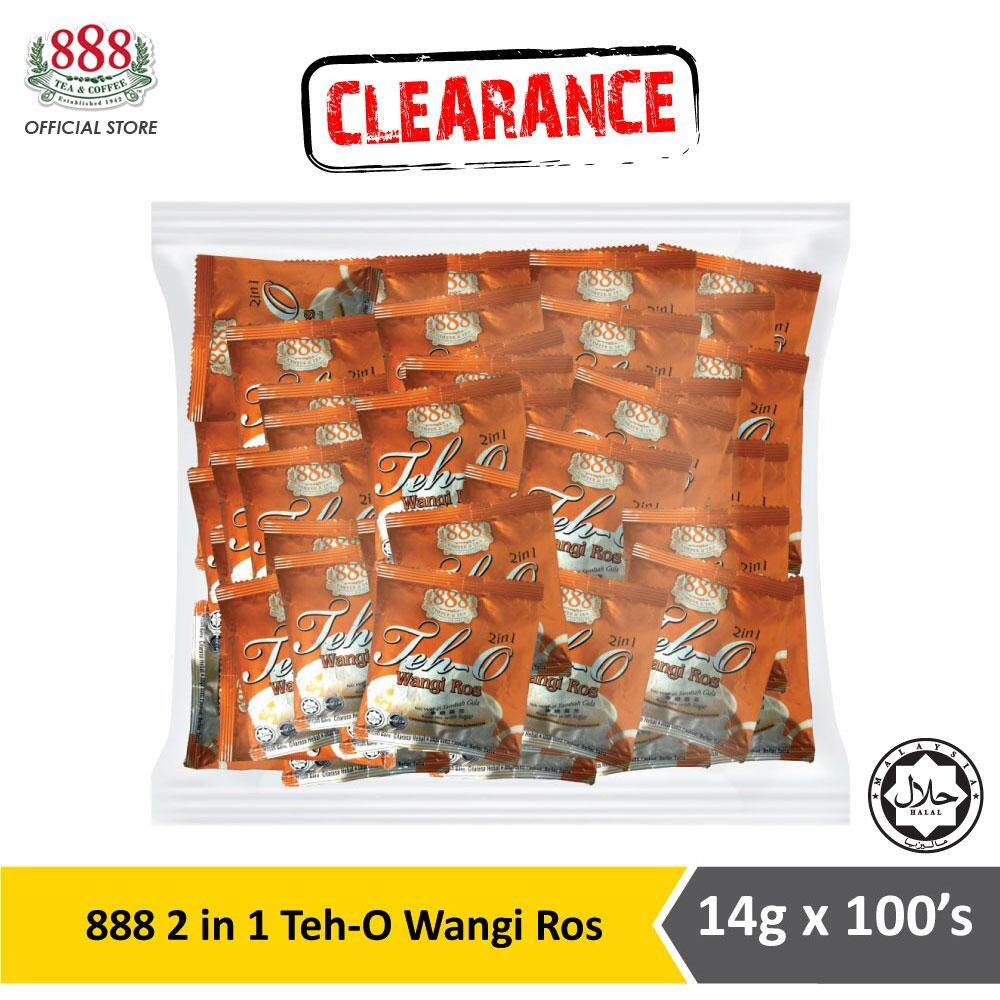 888 2 in 1 Teh O Wangi Ros Pot Bag (14g x 100s) [EXP: 22 July 2020]