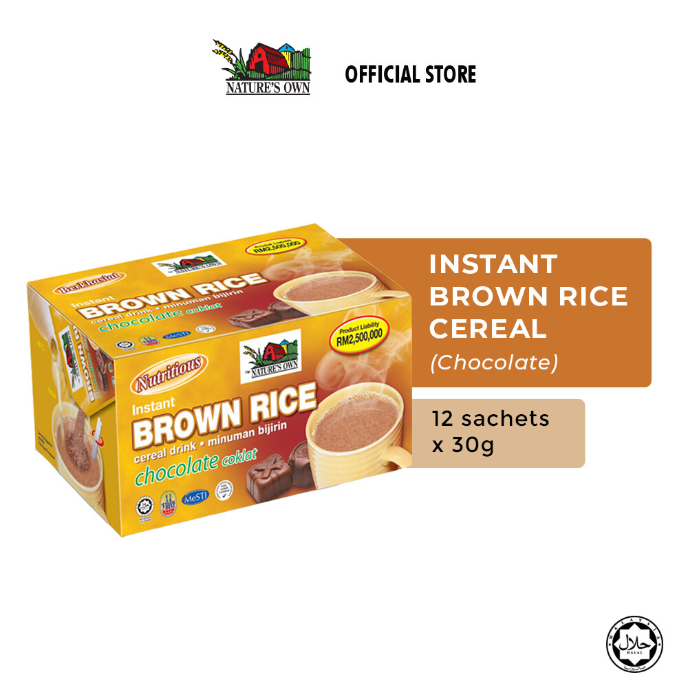 Nature's Own® Instant Brown Rice Cereal Drink Chocolate (1 pack x 14 Sachets x 30g)