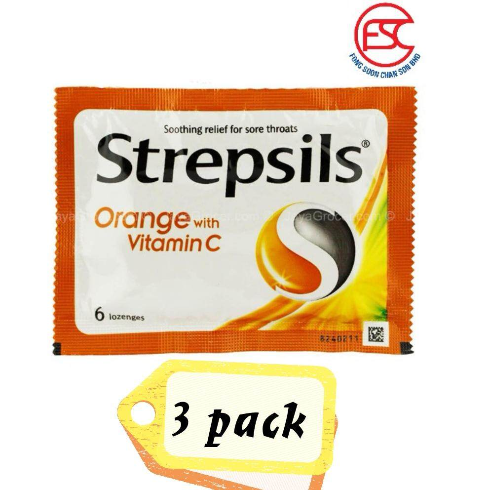 Strepsils Vitamin C Orange 6s x 3pkt