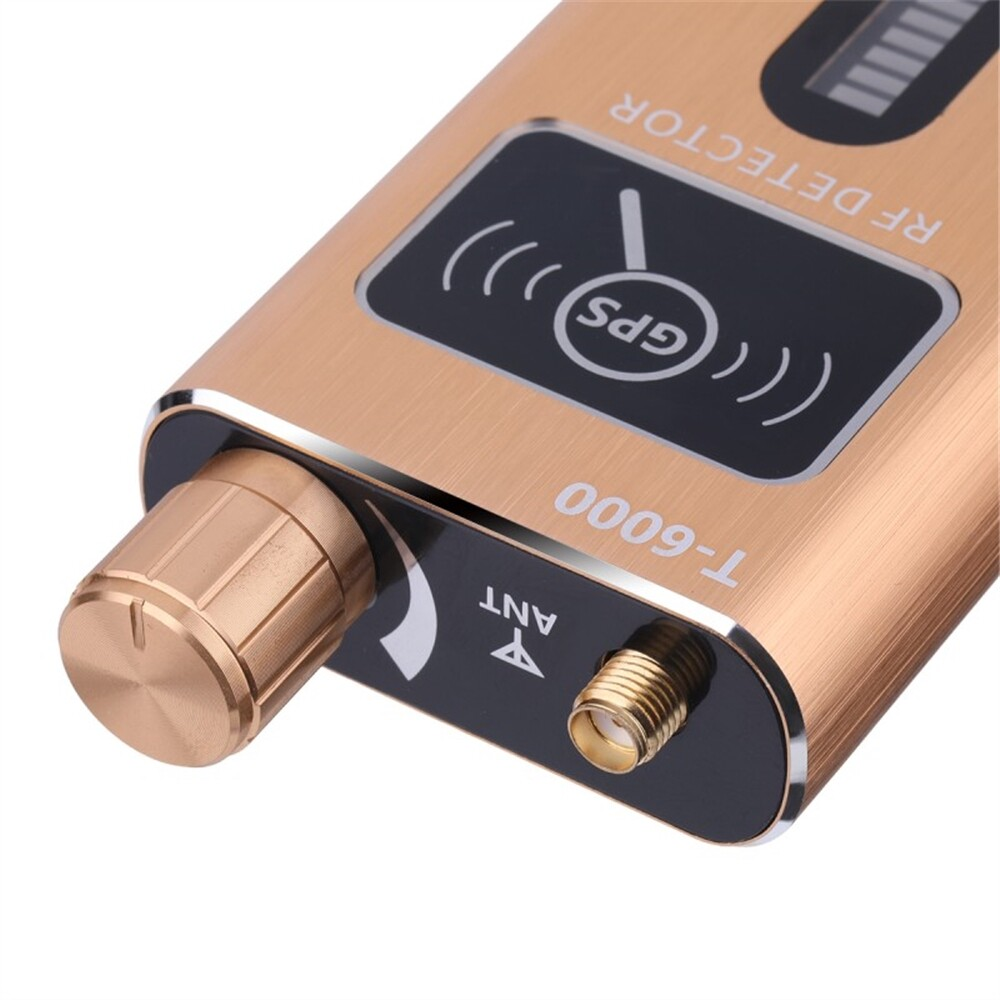 Cables & Chargers - T6000 Signal Lens RF Tracker WiFi GSM Bug Detector T-6000 2G 3G 4G Bug Camera Signal Detector - BLACK / GOLD
