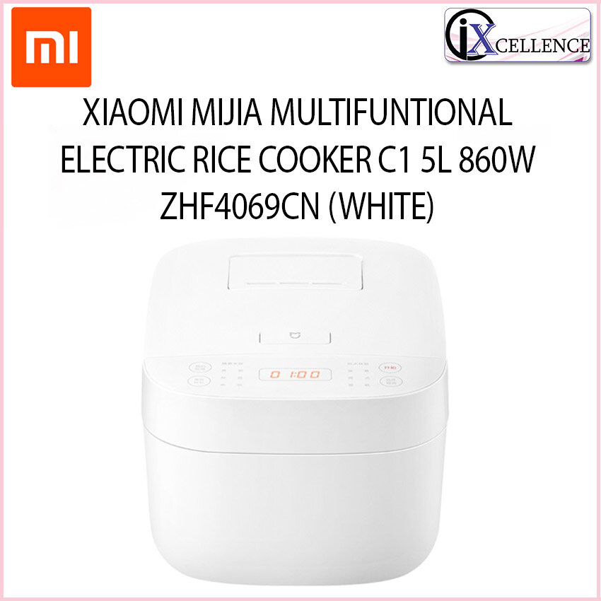 [IX] XIAOMI MIJIA MULTIFUNTIONAL ELECTRIC RICE COOKER C1 5L 860W ZHF4069CN (WHITE) MDFBT01ACM
