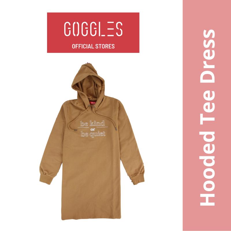 GOGGLES Ladies Long Sleeve Hoodie T Shirt Dress 120594