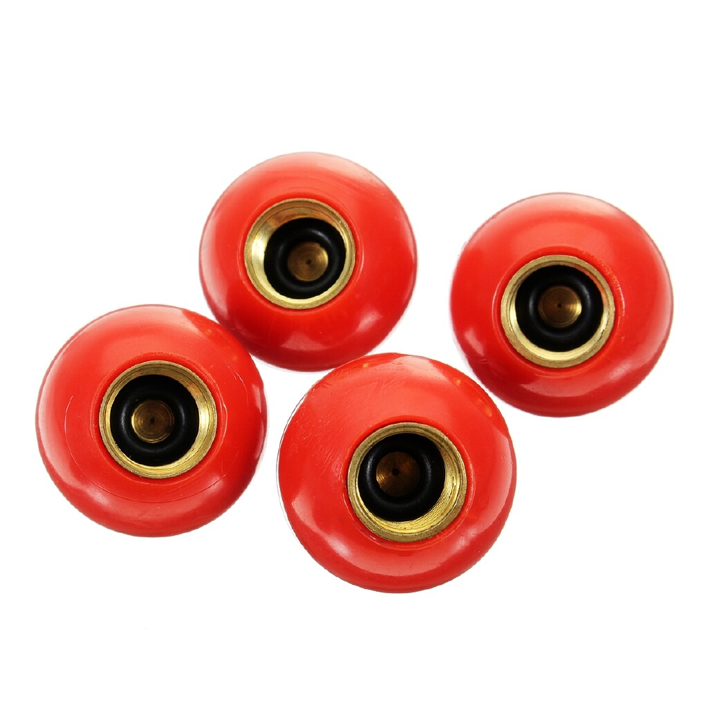 Automotive Tools & Equipment - Car Bike Tyre Tire Air Valve Stem Dust Caps For Red Number 76 Ball - Car Replacement Parts