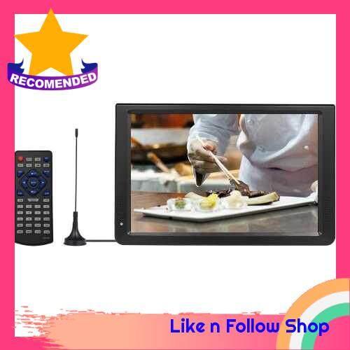 D12 11.6 Inches Portable Multimedia Player DVB-T2 TV Tuner Receiver DTV ATV FM Radio PVR Built-in Speakers HD VGA Input AV IN OUT SD Card Slot (Eu)