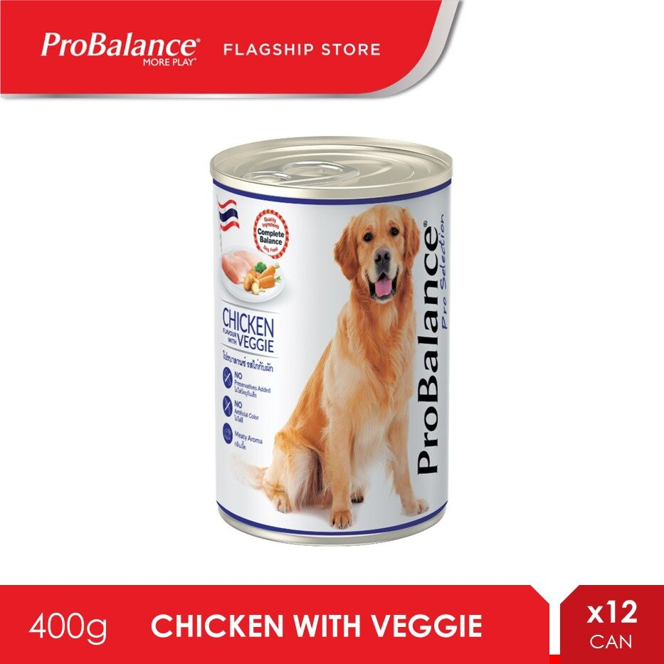 ProBalance 400G Chicken Pro Selection Adult Wet Dog Food X 12 Cans [makanan anjing]