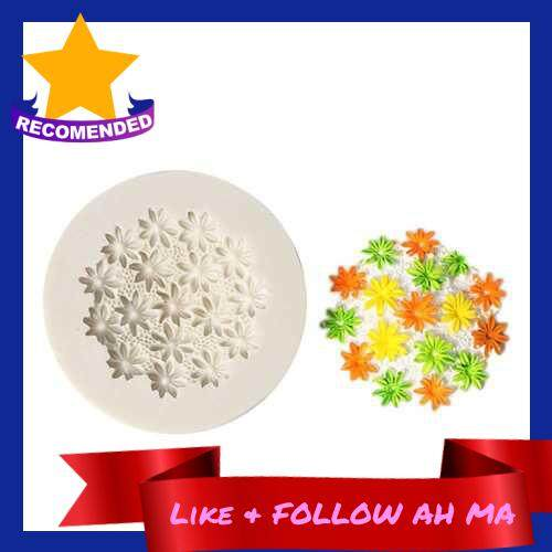 Best Selling 1 Pcs Flower Shape Silicone Fondant Mold Chocolate Molds for Cake Decorating Sugarcraft Resin Polymer Clay
