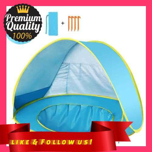 People\'s Choice Pop Up Baby Beach Tent Waterproof Anti-UV Sun Shelter with Pool Kids Outdoor Sun Shade Awning Tent (Standard)