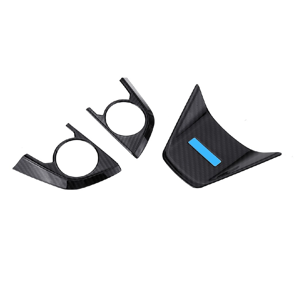 Automotive Tools & Equipment - 3 PIECE(s) Carbon Fiber Steering Wheel Frame Cover Trim For Toyota Camry - Car Replacement Parts