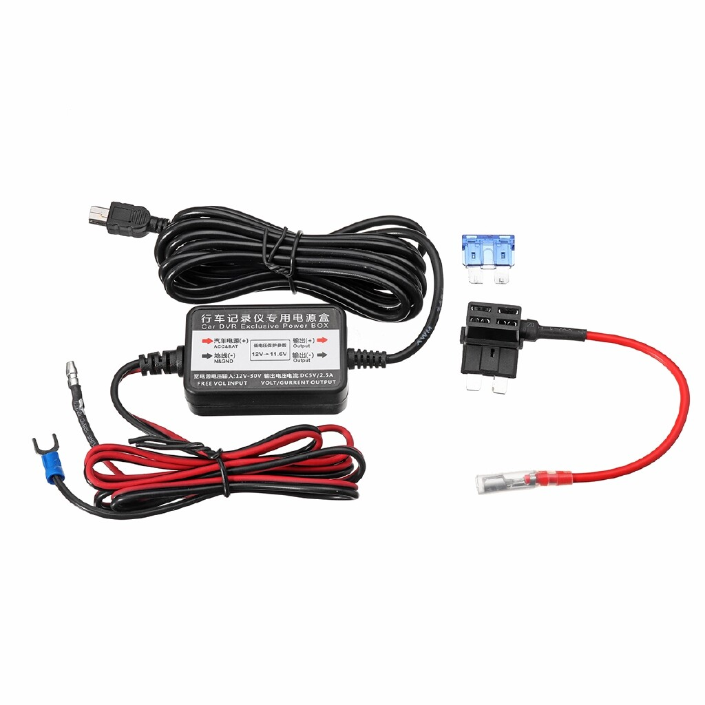 Car Electronics - 12-24V To 5V Car Dash Cam Charger Adapter Hard Wire Kit MINI USB For Nextbase - Automotive