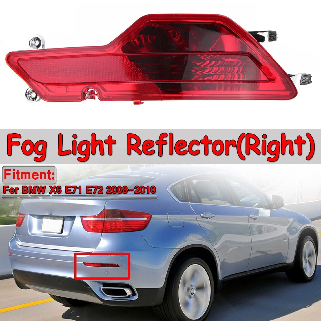 Car Lights - Rear Right Bumper Fog Light Reflector For BMW X6 E71 E72 2008-2014 63147187220 - Replacement Parts