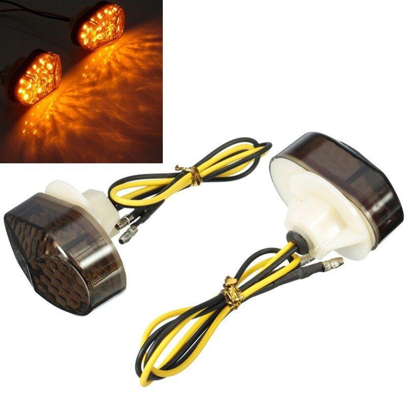Automotive Tools & Equipment - Smoke LED Flush Mount Turn Signal Blinker Marker Yamaha YZF R6 99 2000 2001 2002 - Car Replacement Parts