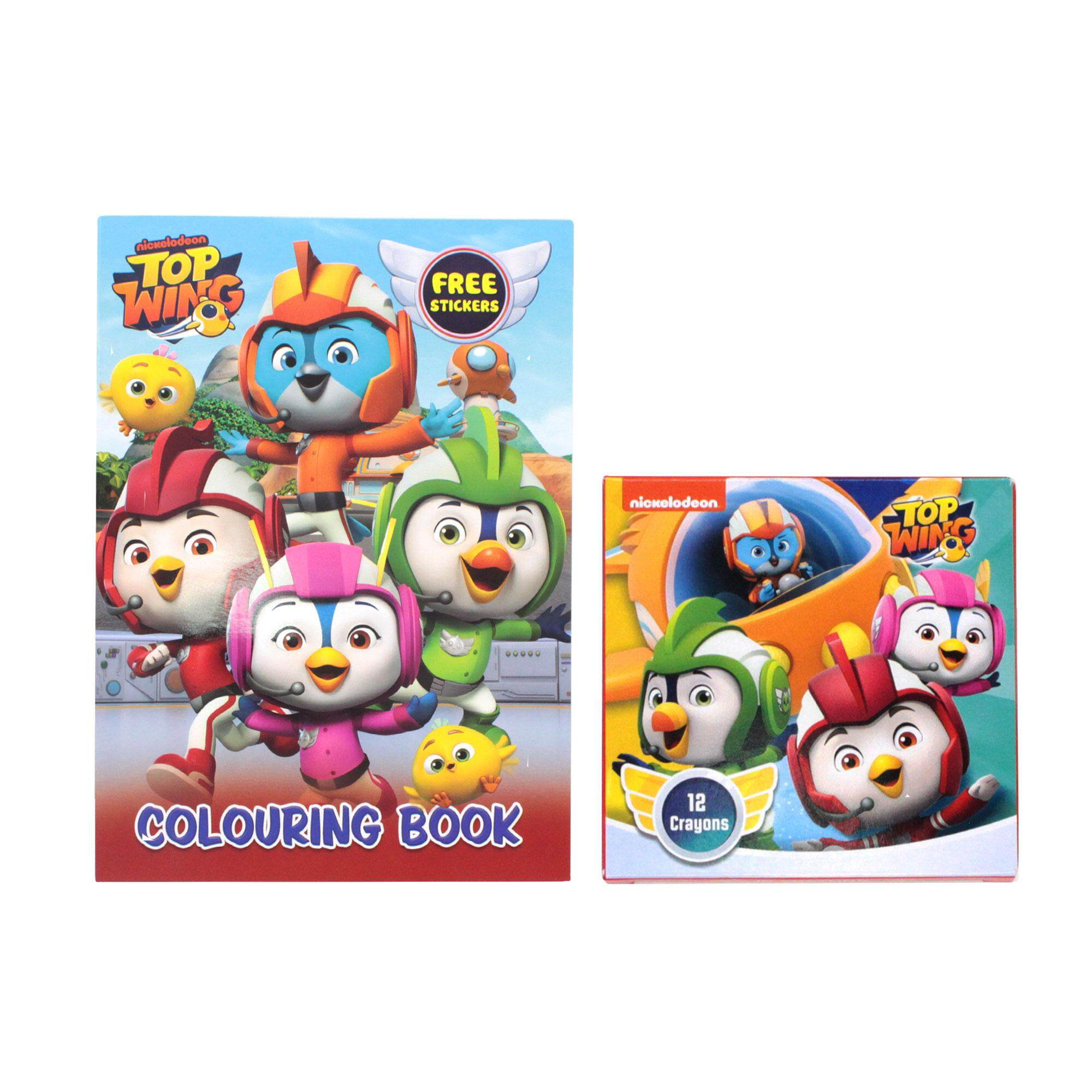 Top Wing Coloring Book with Sticker & Crayon Set