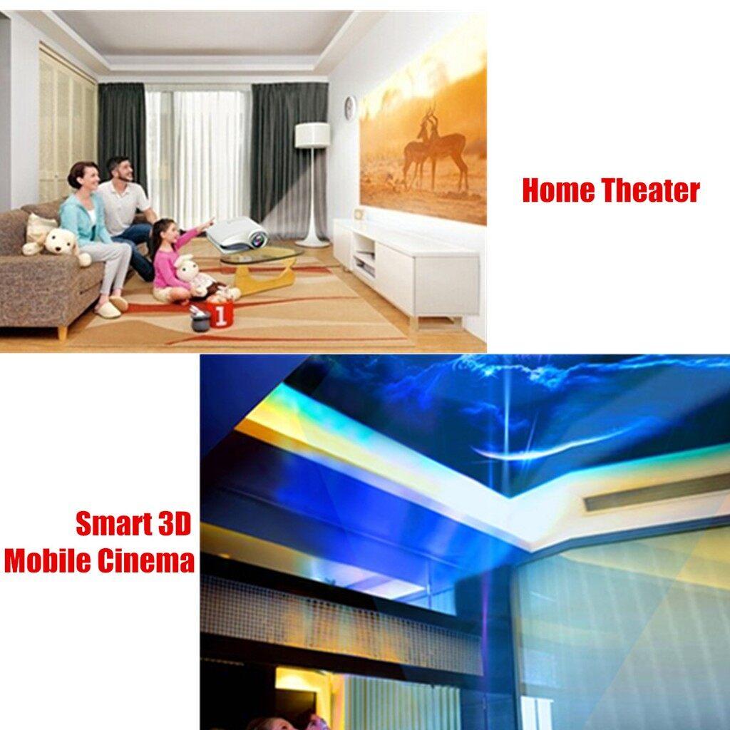 Projectors - MINI LED Projector PORTABLE 3D 1080P Multimedia Home Theater USB VGA_3C