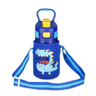 DA28 Children Stainless Steel Vacuum Insulated Water Bottle With Straw 350ml (BLUEBERRY BLUE)