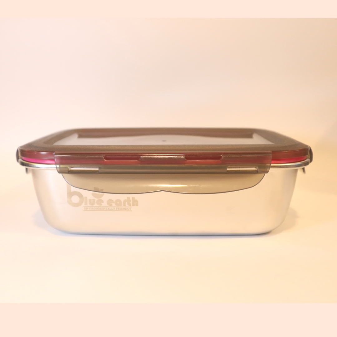 Blue Earth 304 Stainless Steel Lunch Box Food Container Single Wall 220ml, 600ml, 1500ml Ready Stock