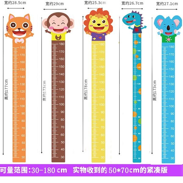 (Ready Stock in Selangor) Kids Children Height Growth Chart Measure Wall Sticker