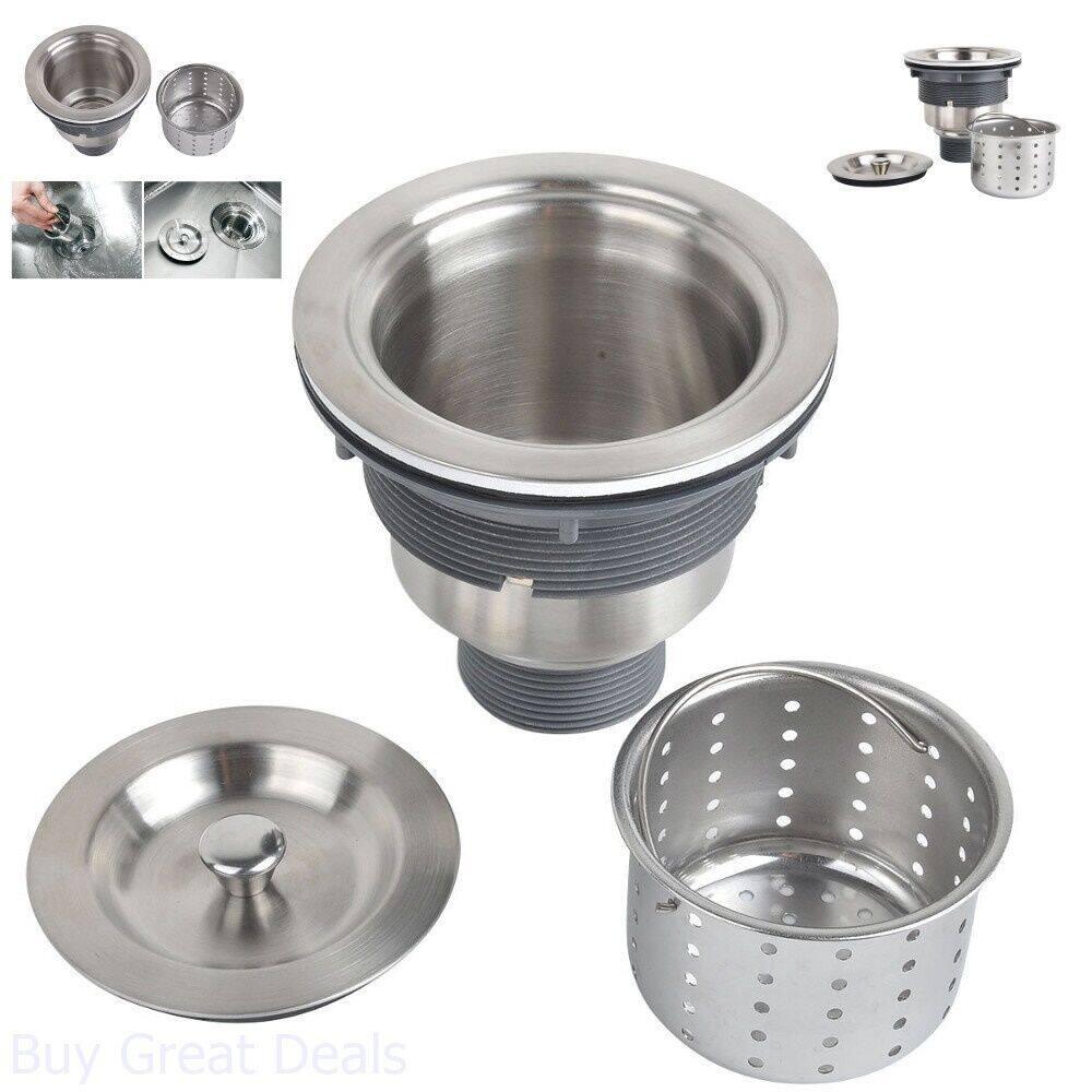 """2 1/2"""" Stainless Steel Big Waste (Kitchen Sink drain Removable Deep Waste Basket)"""