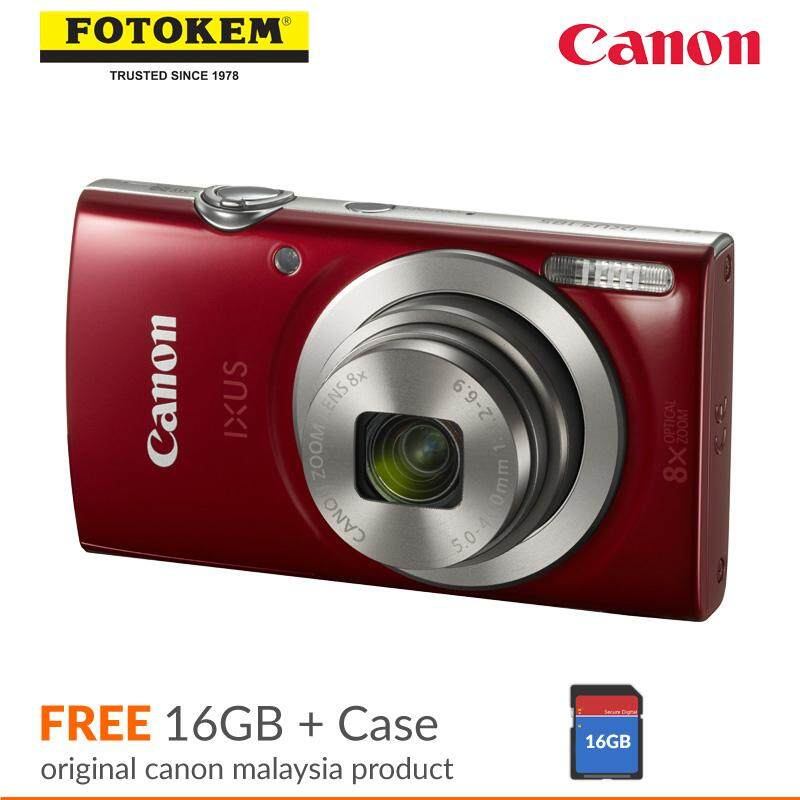 Canon Ixus 185 Digital Camera + Case + 16GB (Canon Malaysia Warranty)