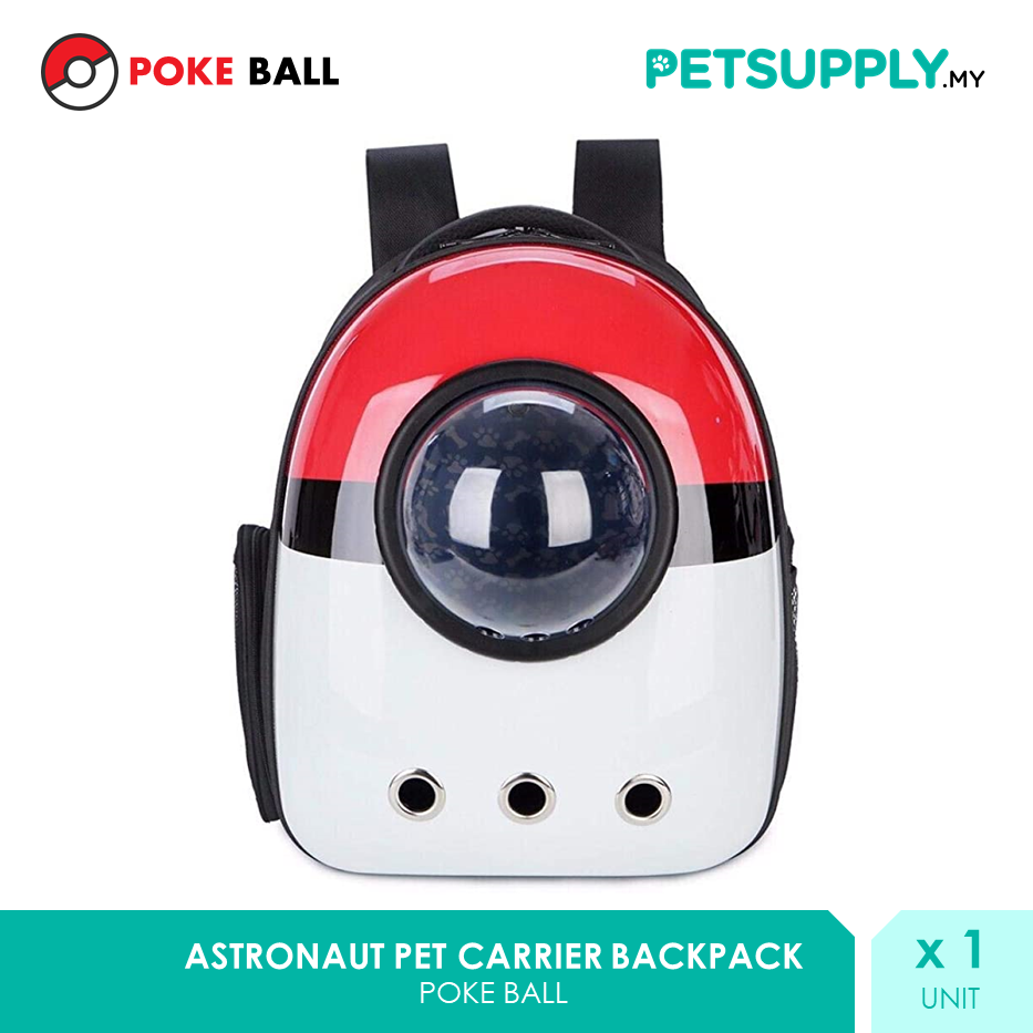 POKEBALL Pets Carrier Backpack [Beg Kucing Pokemon - Petsupply.my]