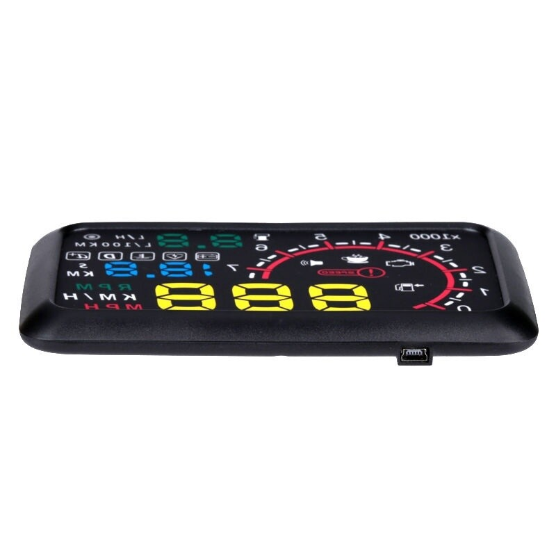 5.5 HUD Head-Up OBD2 Car Off-Road Dashboard Projector Speed Warning Speedometer