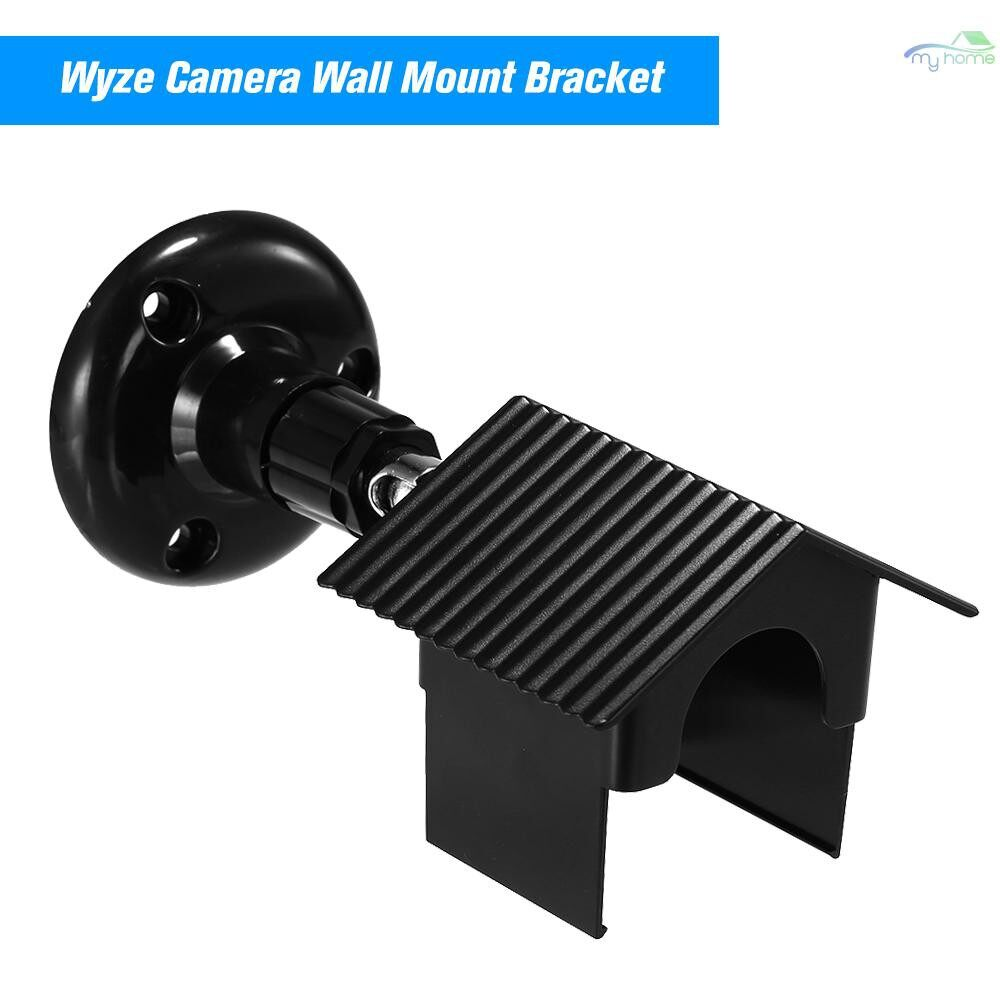 Monitors - Wyze Camera Wall Mount Bracket 360 Degree Protective Adjustable Mount with Weather Proof Cover Case - BLACK / WHITE