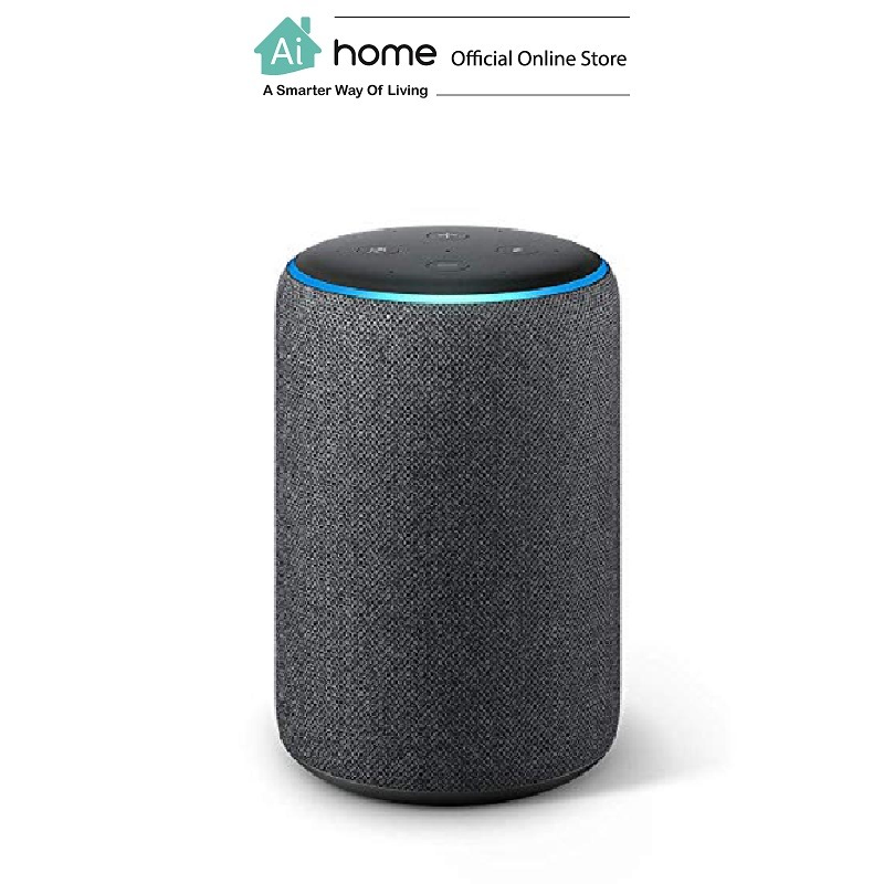 AMAZON Echo Plus 2 (Black) [ Smart Speaker ] Build in Alexa Assistant with 1 Year Malaysia Warranty [ Ai Home ] AMAZON Echo Plus 2