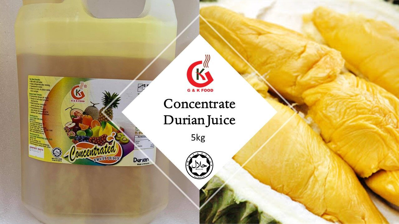 [100% JAKIM HALAL] 5kg Concentrate Durian Juice/ Ice Blended Durian/ Stock Cukup!!!