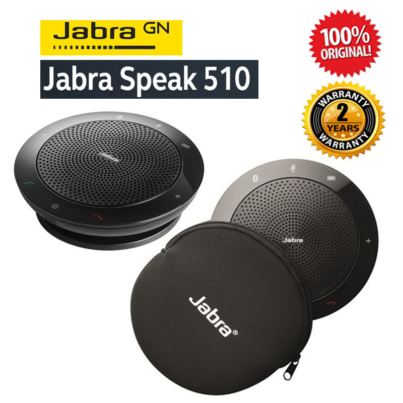[Ready Stock] Jabra Speak 510 UC Portable USB and Wireless Bluetooth Conference Speakerphone (2 Years Warranty)