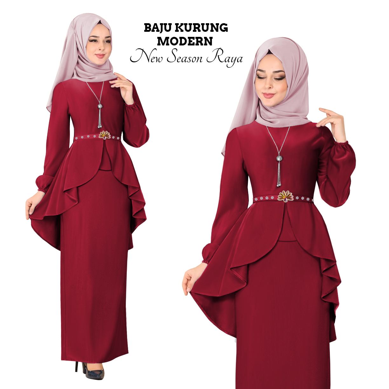 New Collection KM Fashion Baju Kurung Modern New Season Baju Raya ( Hot & Trendy ) ( Ready Stock ) Terkini