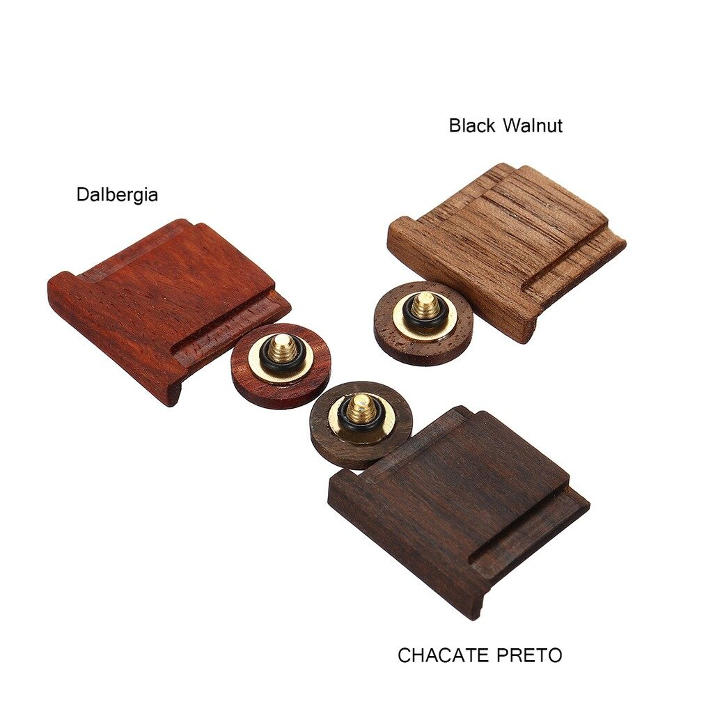 Cases, Covers and Bags - Wooden Wood Shutter Button +Shoe Cover For Fuji FujiFilm Camera - BLACK WALNUT / DALBERGIA / CHACATE PRETO