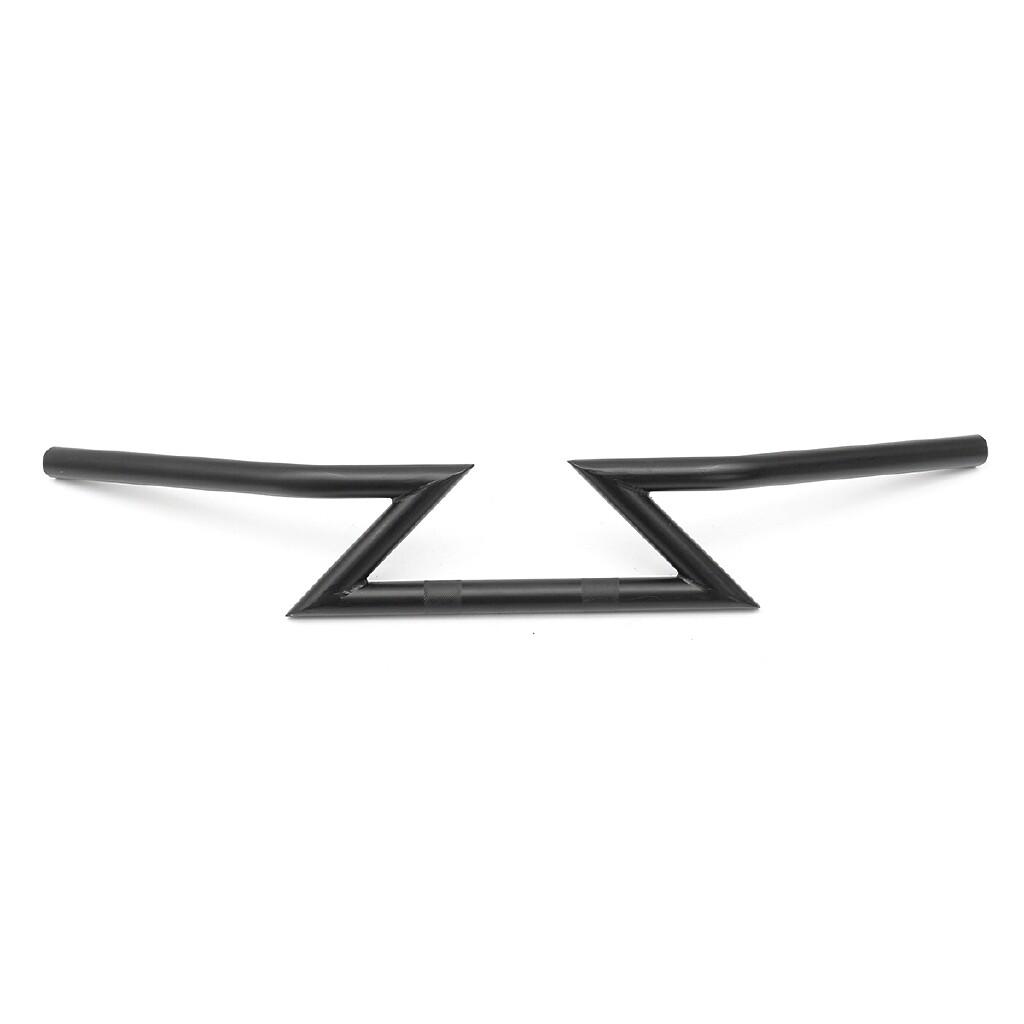 Moto Accessories - Motorcycle 25mm 1 inch Drag Bar Handlebar Z-Bar For Harley/Yamaha/Suzuki - PLATING COLOR / BLACK