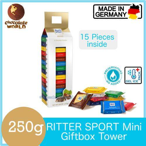 Ritter Sport Mini Mix 15Pcs GiftBOX 250g (Made in Germany)