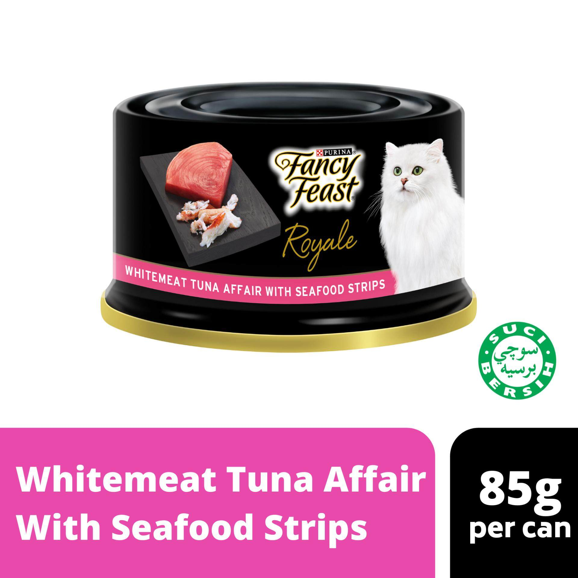 Fancy Feast Royale Whitemeat Tuna Affair With Seafood Strips Wet Cat Food Can (1 x 85g)