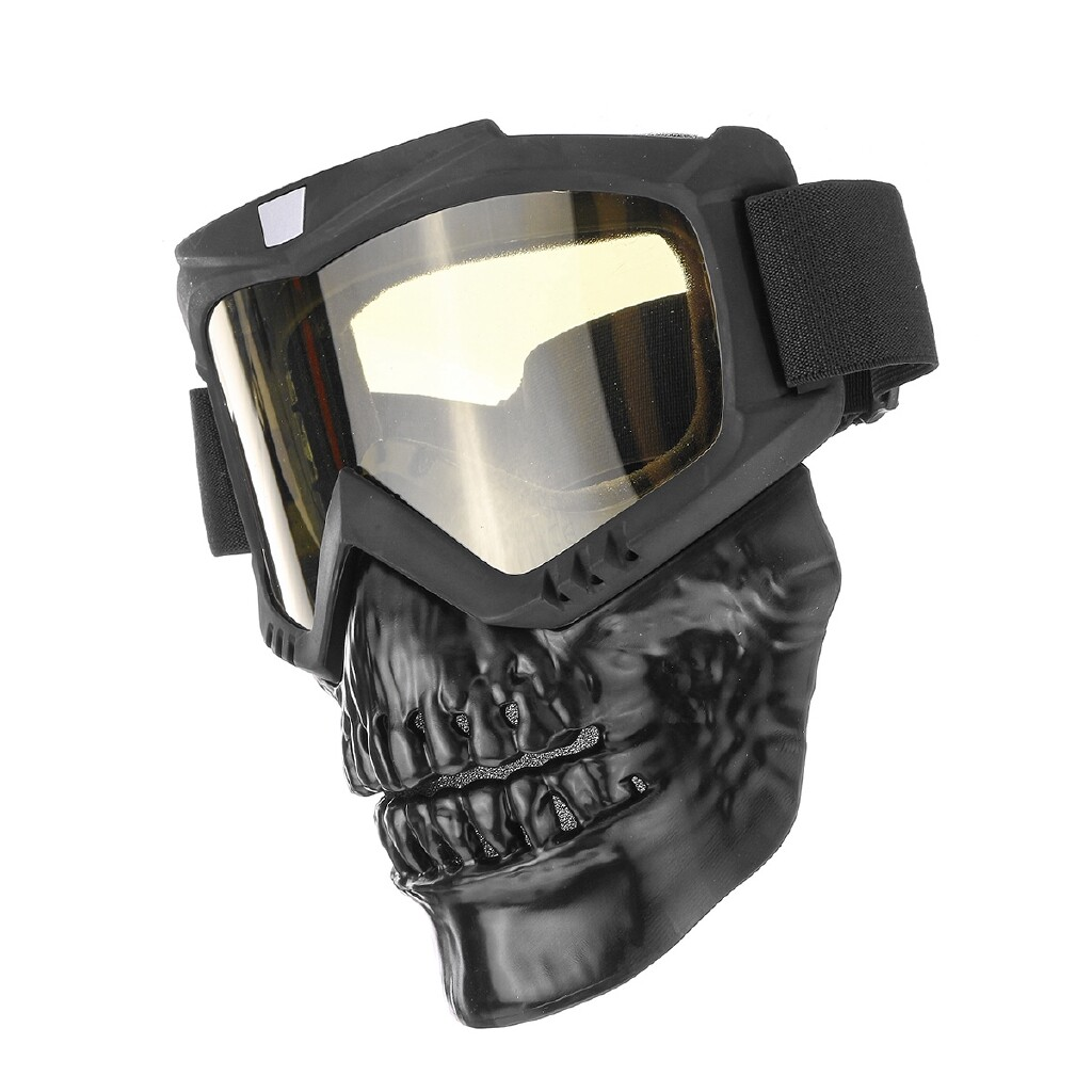 Riding Gear - Motorcycle Goggles Glasses Helmet Mask Outdoor Riding Motocross Windproo mhestore2009 - GREY / YELLOW / SILVER / TRANSPARENT / COLORFUL