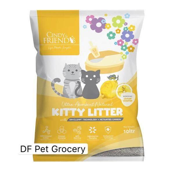 Cindy & Friends Kitty Litter - Lemon 10Ltr - Clumping Cat Litter